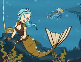 SeaGears - Mechanical Fish - Disney Style by Mibu-no-ookami