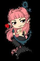 Commissioned Work - Chibi Mermaid Tattoo by Mibu-no-ookami