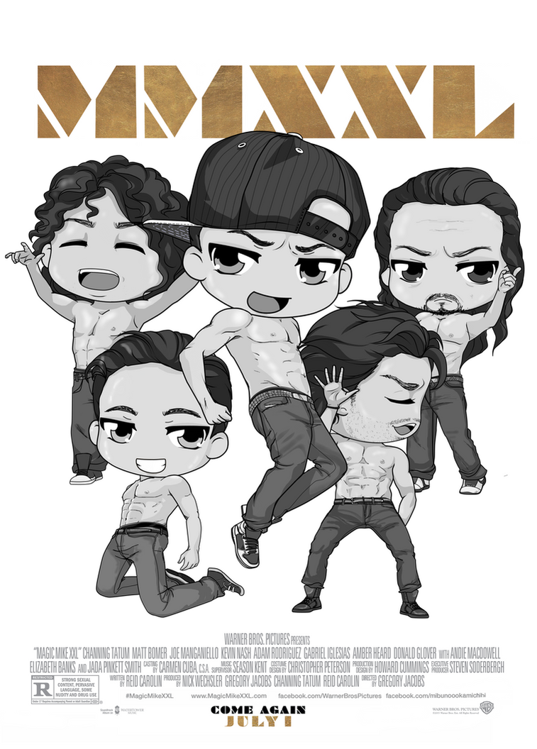 ChibiPosters  - Magic Mike XXL by Mibu-no-ookami