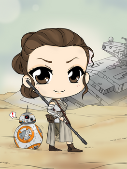 Star Wars - The Force Awakens - Rey and BB 8