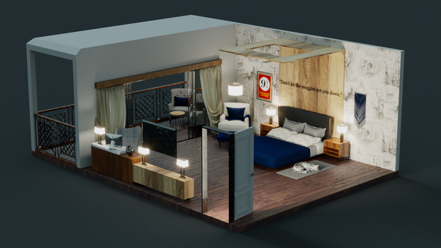 The Isometric Bedroom 3D model