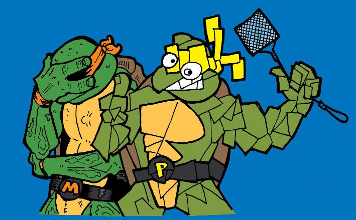 The Fifth TMNT - Picasso by happyorangutan