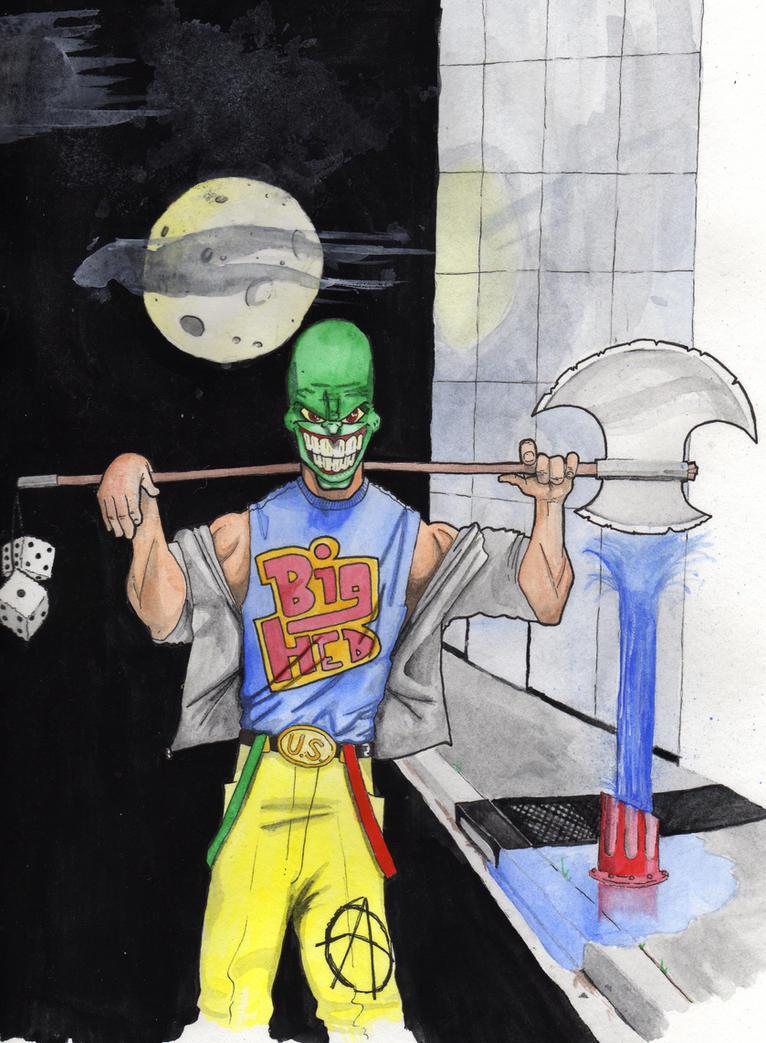 The Mask - Watercolors by happyorangutan