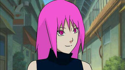 My Naruto oc with Pink hair