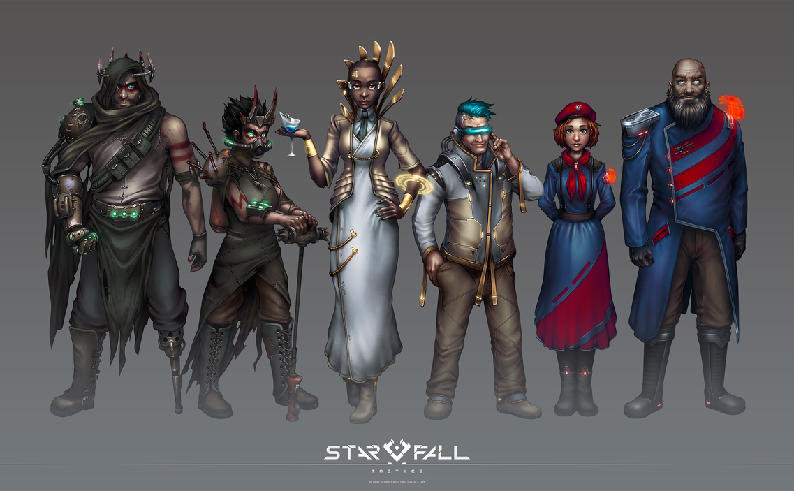 Starfall Tactics faction portraits by DVan7
