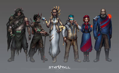 Starfall Tactics faction portraits