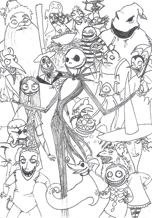 nightmare before christmas coloring pages - photo#19
