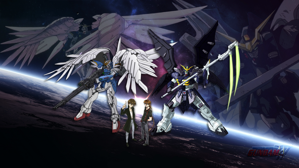 Gundam Wing Wallpaper Heero Yuy Duo Maxwell By Thornnnn