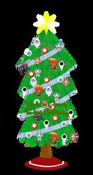 Yokai Watch Christmas Card English Ver. by Christopia1984