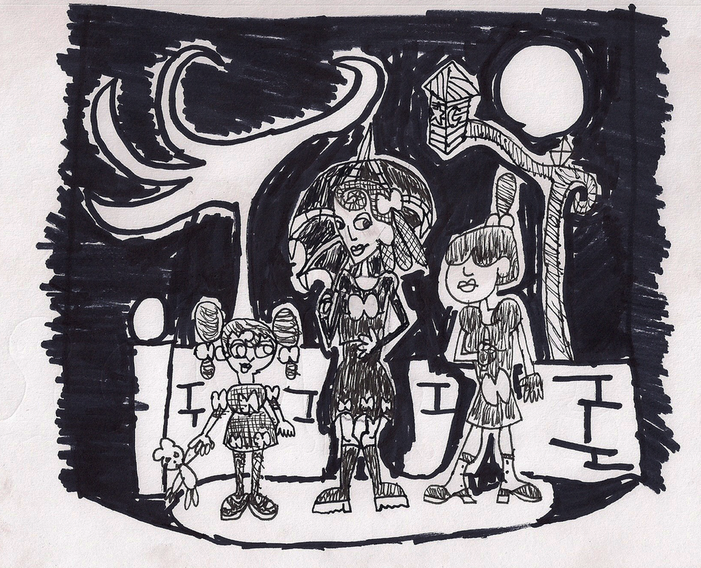Inktober: Goth Realm Gothicide sisters by Christopia1984