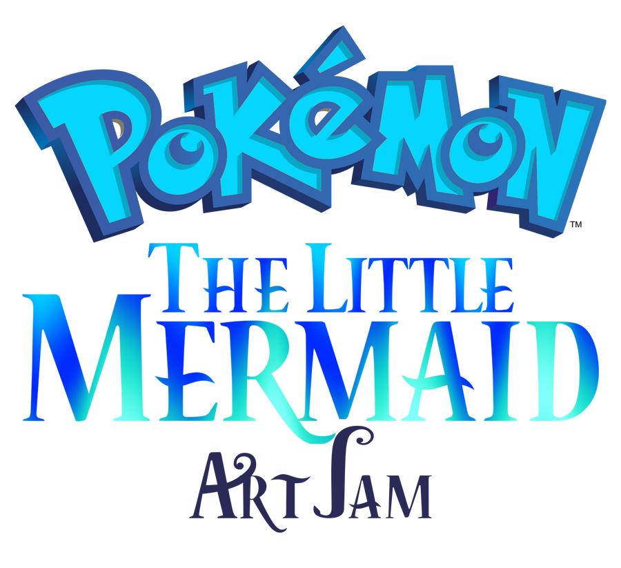 Pokemon Little Mermaid Artjam Logo (Revised) by Christopia1984