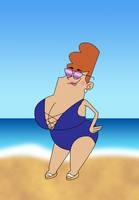 Geraldine Waxelplax Swimsuit Artjam by Christopia1984