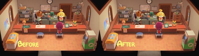 Animal Crossing Isabelle's pantyshot edit