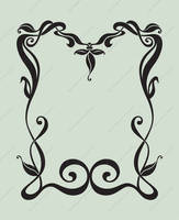 Art Nouveau Border - Premium Content by DreamWarrior