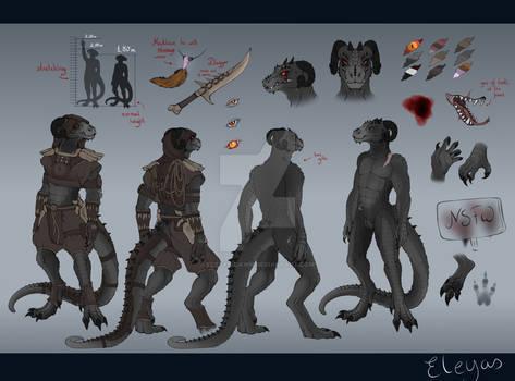 [Argonian] Nhakik- Full Character Reference Sheet