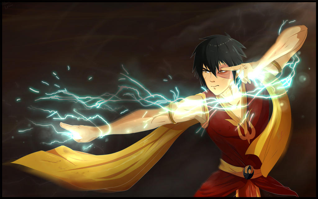 Zuko lightning by HelavisKrew
