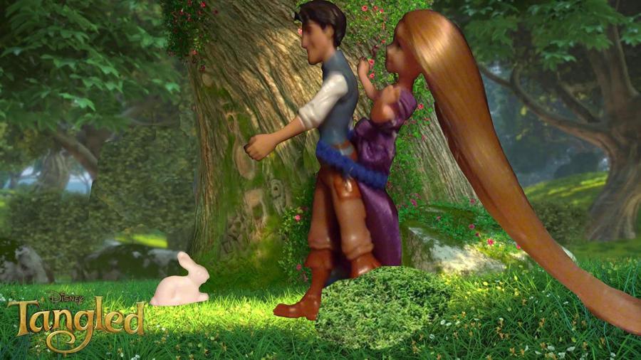 Raiponce et flynn et le lapin rapunzel and flynn by floriandeistres on deviantart - Raiponce et flynn rider ...