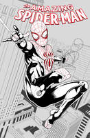 Spidersona cover #1 Lineart by IAmNoxArt