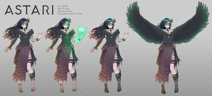 Witch Character Design Commission