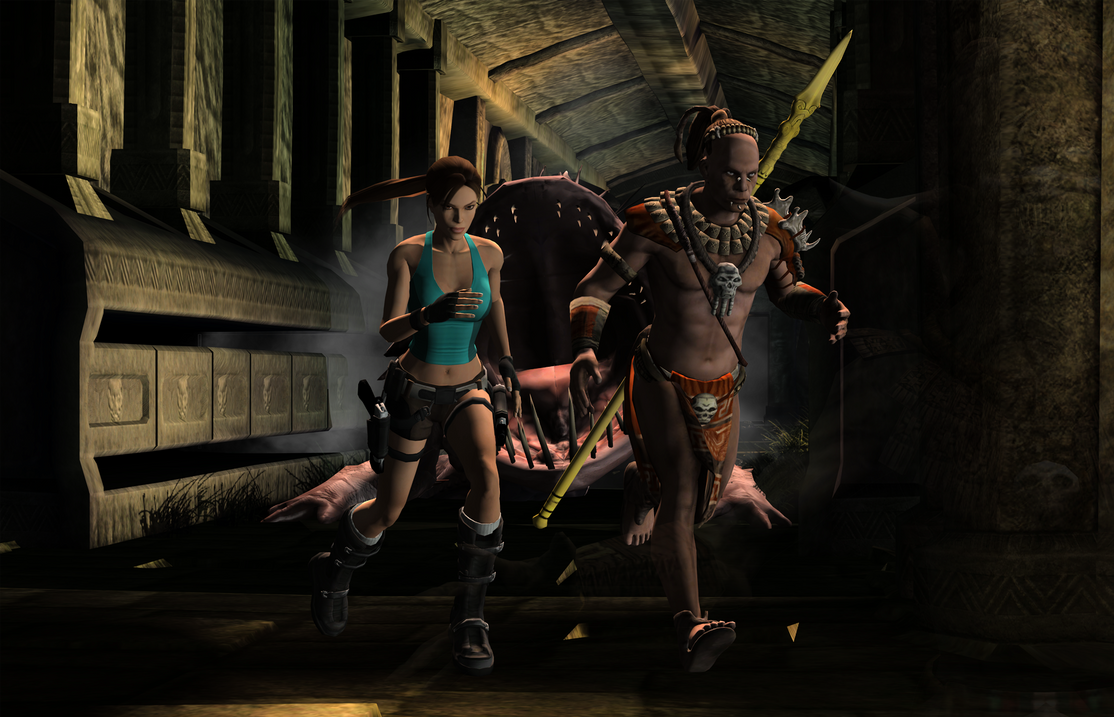 Hentel tomb raider monster adult photo