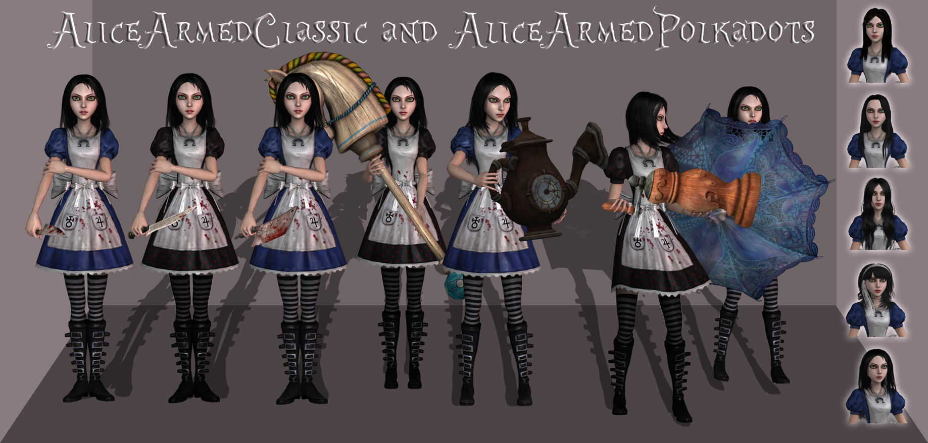 AliceArmedClassic and AliceArmedPolkadots release by tombraider4ever
