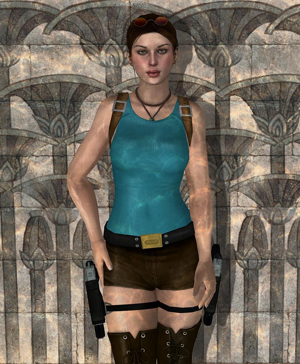 Lara croft wet shirt adult photos