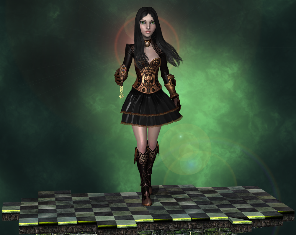 SteampunkAlice, wip1 by tombraider4ever