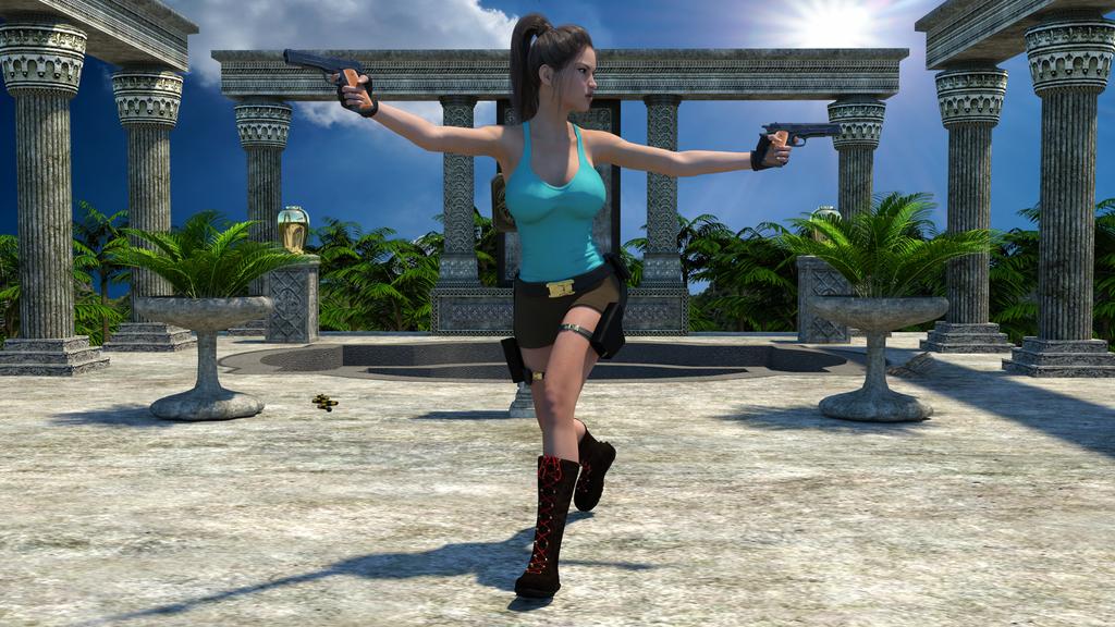 Lara 3d naked tit