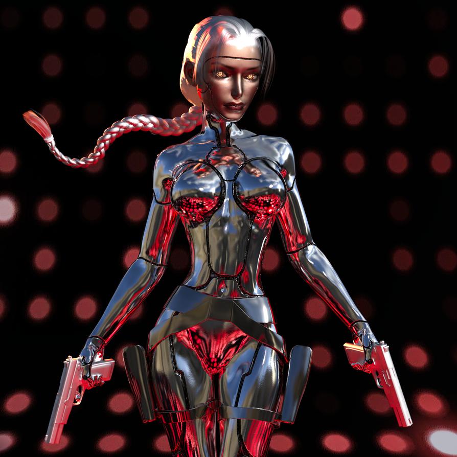Lara Cyborg by tombraider4ever