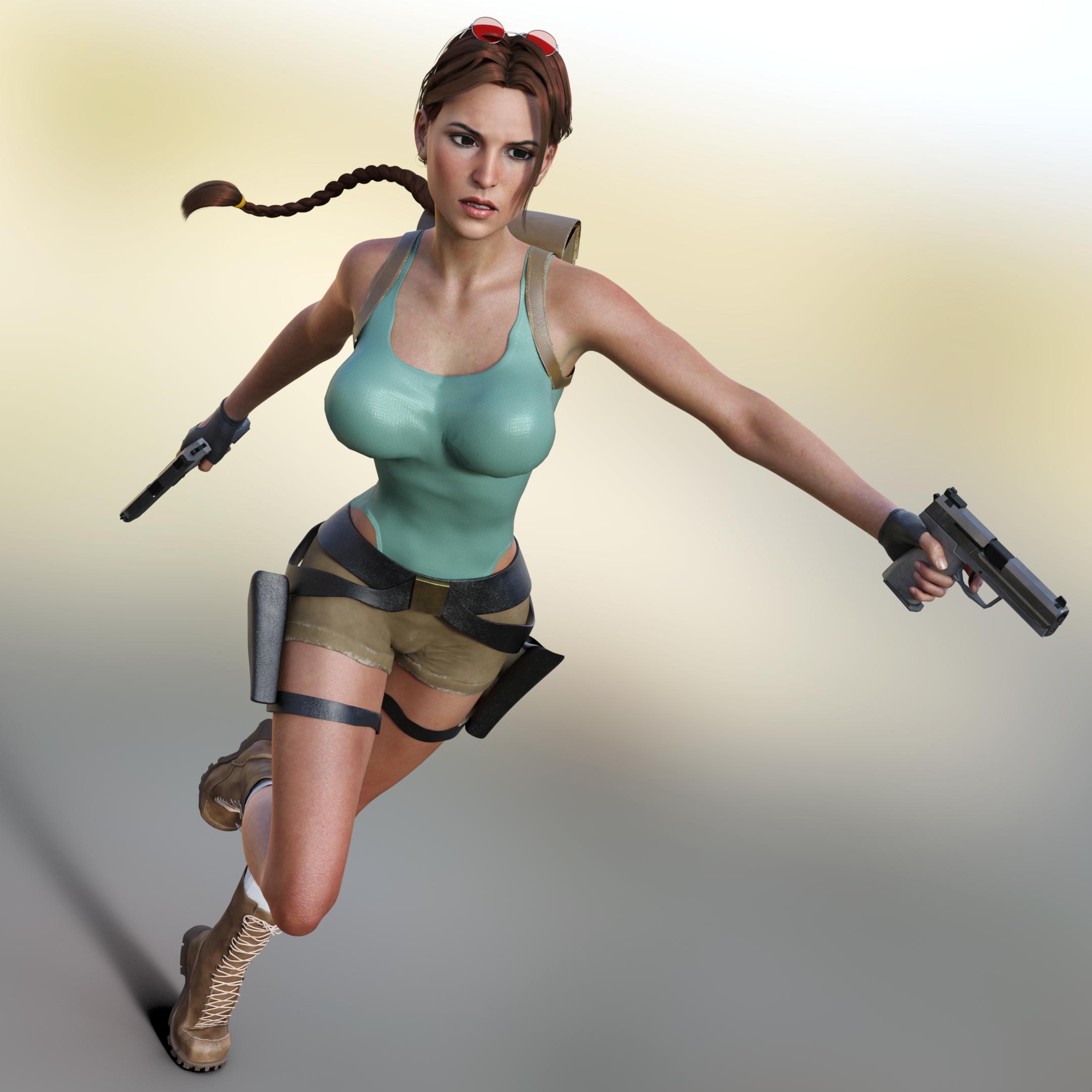 Rise Of The Tomb Raider Art Silk Fabric: Tombraider4evers Fmv Lara Model