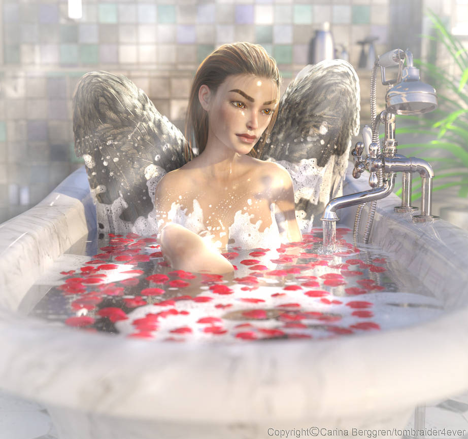 Even angels loves bubblebaths :) by tombraider4ever