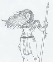 Celtic Warrior Chick by KidaGreenleaf