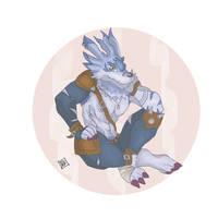 Weregarurumon by devilmon20