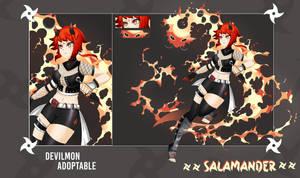 (OPEN) Adopt Auction - Salamander by devilmon20