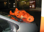 Red XIII gets hit by the car by ThoronWildCosplay