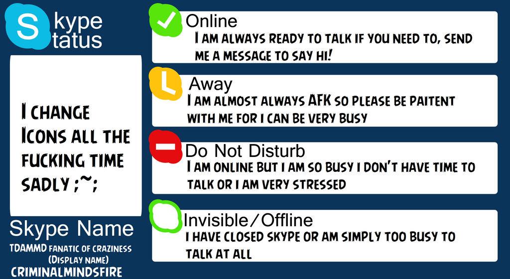 My Skype status meme by DeathBoneDragon666 on DeviantArt
