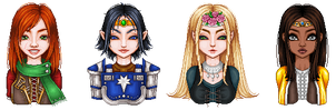LOTRO characters by ImaginaryKarin