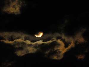 clouds night mond