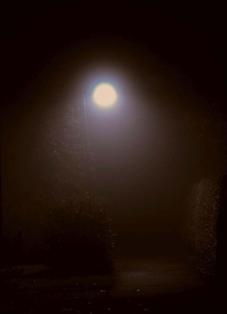 roads in the fog lamp by stock1-2-3
