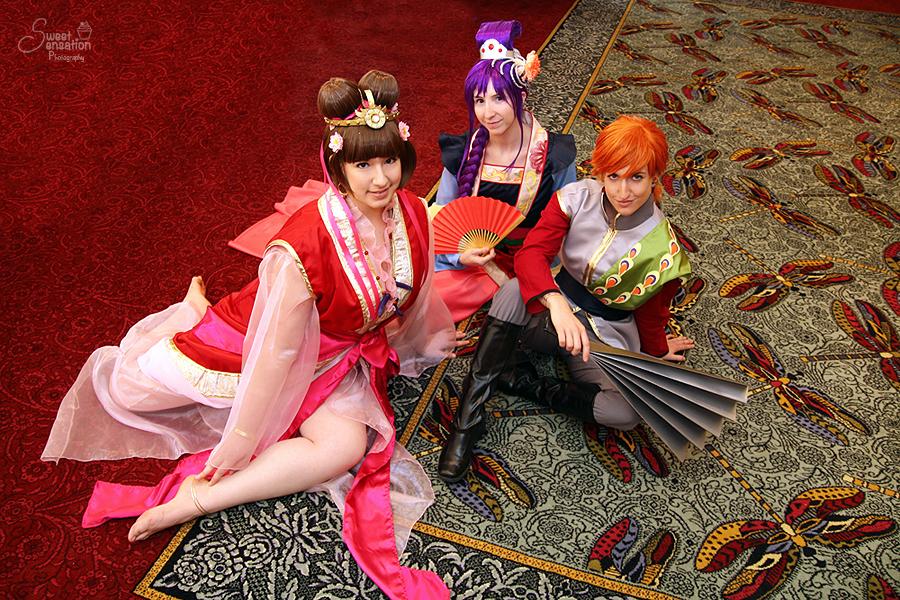 Fushigi Yuugi : Miaka Yuki, Nuriko, and Tasuki by EnchantedCupcake