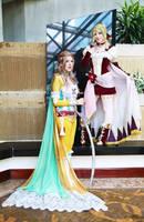 Terra Branford  and Celes Chere II by EnchantedCupcake