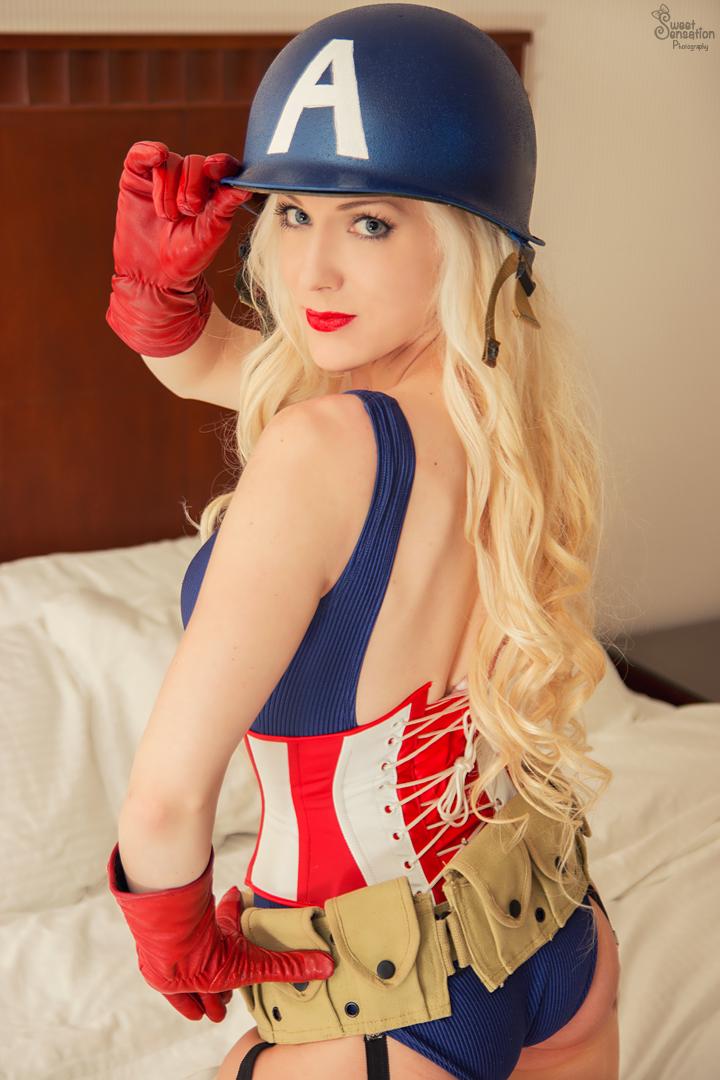 Pin Up Captain America Iii By Enchantedcupcake On Deviantart