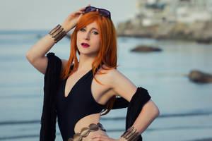 Black Widow Swimsuit II by EnchantedCupcake