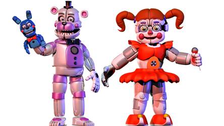 Funtime Freddy V2 + Circus Baby V4 Complete! by Bantranic