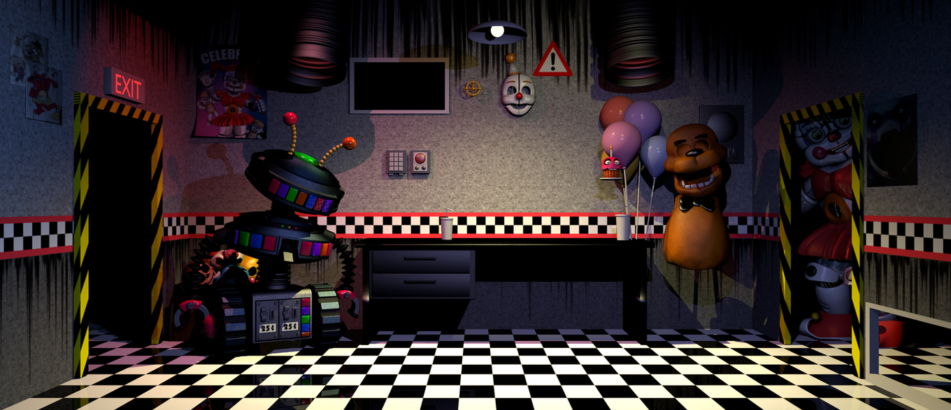Fnaf Ultimate Custom Night Office Wip 3 By Bantranic On
