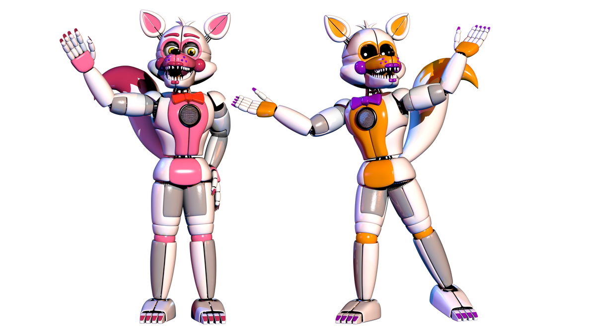 Funtime Foxy and Lolbit Remake by Bantranic