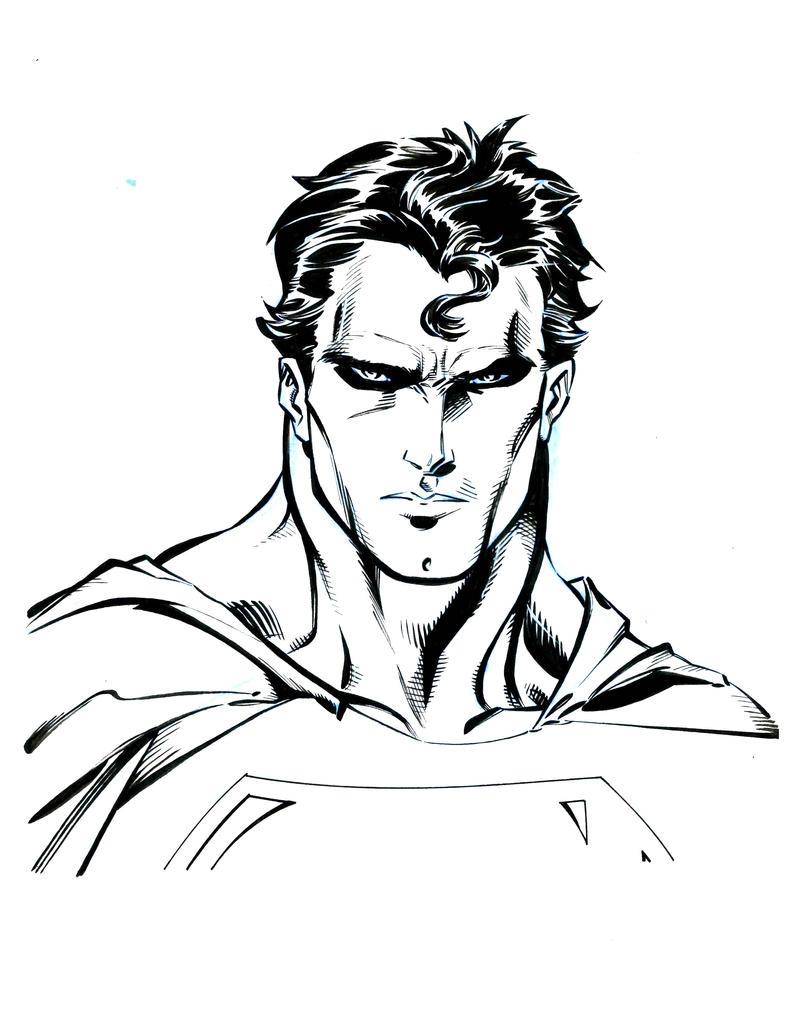 guile superman bust by JimSandersIII
