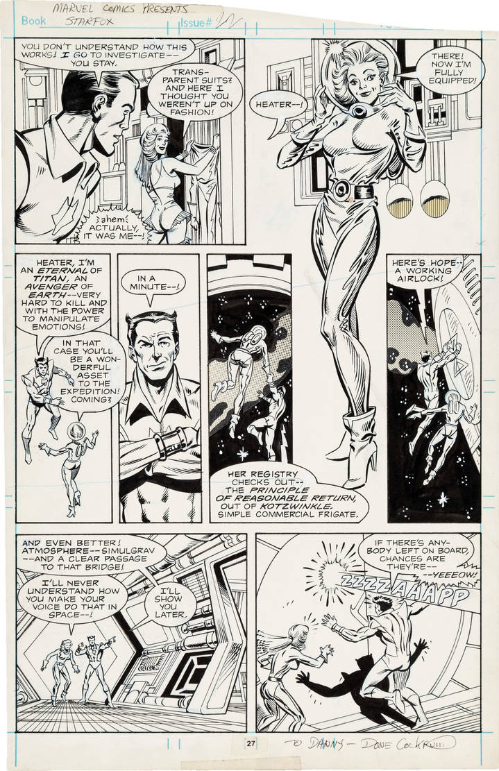 marvel comics presents #22 cockrum pencils,my inks by JimSandersIII