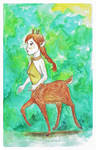 Roe deer centauride by Rufina-Tomoyo