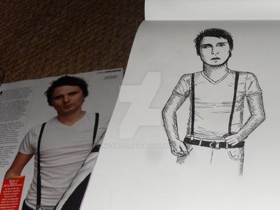 Matt Bellamy sketch 1 by NCahill